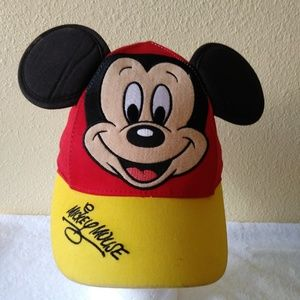 Disney Mickey Mouse Toddler Baseball Cap w/ Ears